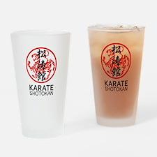 Shotokan Karate symbol and Kanji Drinking Glass