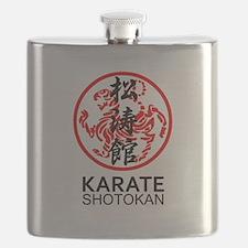Shotokan Karate symbol and Kanji Flask