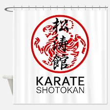 Shotokan Karate symbol and Kanji Shower Curtain