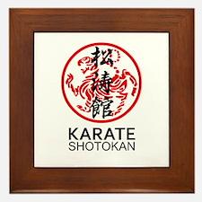 Shotokan Karate symbol and Kanji Framed Tile