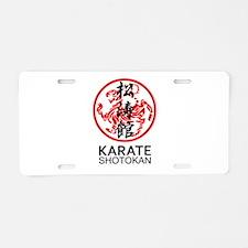 Shotokan Karate symbol and Aluminum License Plate