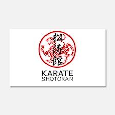 Shotokan Karate symbol and Kanj Car Magnet 20 x 12