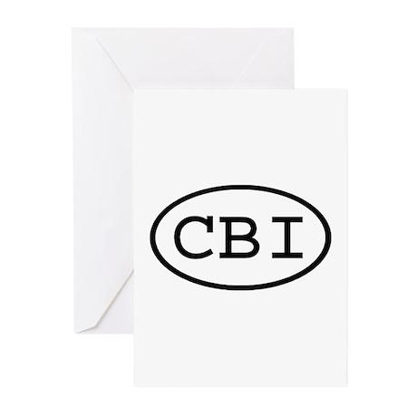 CBI Oval Greeting Cards (Pk of 10)