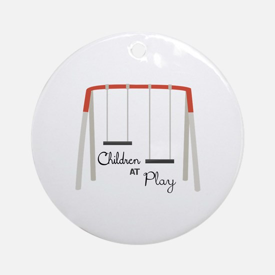 Swing Set Ornament (Round)
