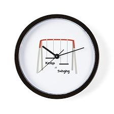 Keep It Swinging Wall Clock