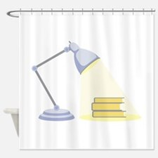 Book Lamp Shower Curtain