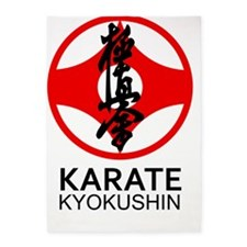 Kyokushin Karate Symbol and Kanji 5'x7'Area Rug