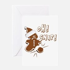 FUNNY OH Snap Gingerbread Man Greeting Card