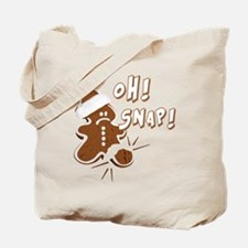 FUNNY OH Snap Gingerbread Man Tote Bag