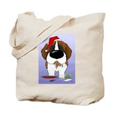 Cute St. bernard dog Tote Bag