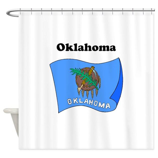 Oklahoma State Flag Shower Curtain By Flagsflagsflags