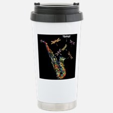 Sax on black Stainless Steel Travel Mug