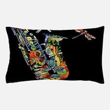 Sax on black Pillow Case