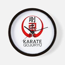 Gojuryu Karate Symbol and Kanji Wall Clock