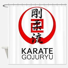 Gojuryu Karate Symbol and Kanji Shower Curtain