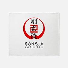 Gojuryu Karate Symbol and Kanji Throw Blanket