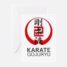 Gojuryu Karate Symbol and Kanji Greeting Cards