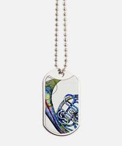 French Horn Dog Tags