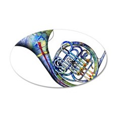 French Horn Wall Decal