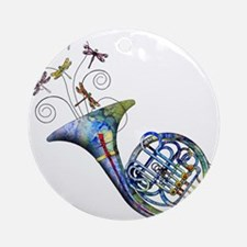 French Horn Ornament (Round)