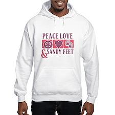 Peace Love & Sandy Feet Hoodie