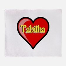 Tabitha Heart Throw Blanket