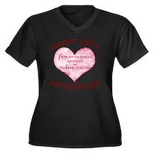 10th. Annive Women's Plus Size V-Neck Dark T-Shirt