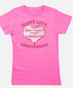 10th. Anniversary Girl's Tee