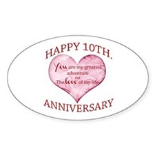 10th. Anniversary Decal