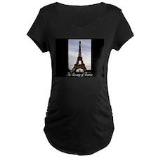 The Beauty of France-Eiffel Maternity T-Shirt