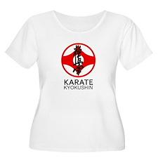 Kyokushin Karate Symbol and Kanj Plus Size T-Shirt