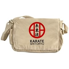 Shitoryu Karate Symbol and Kanji Messenger Bag