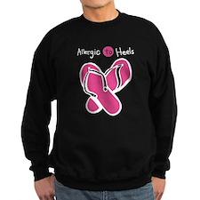 Allergic to Heels Pink - White Sweatshirt