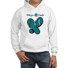 Allergic to Heels Blue Hoodie