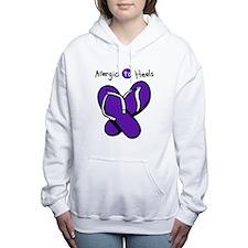 Allergic to Heels Purple Women's Hooded Sweatshirt