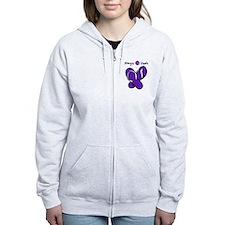 Allergic to Heels Purple Zip Hoodie