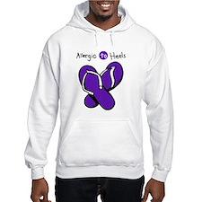 Allergic to Heels Purple Hoodie
