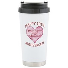 10th. Anniversary Travel Mug