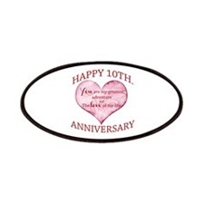 10th. Anniversary Patches