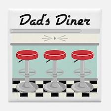 Dad's Diner Tile Coaster
