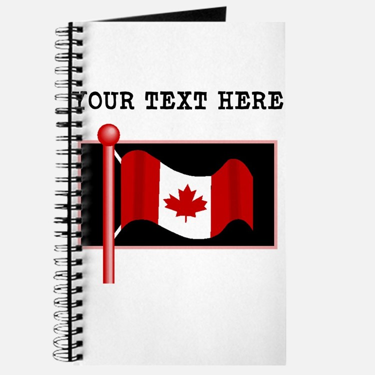 Custom Canada Flag Journal