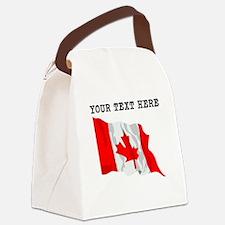 Custom Canada Flag Canvas Lunch Bag
