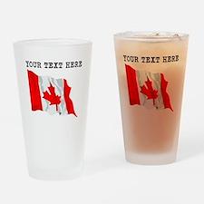 Custom Canada Flag Drinking Glass