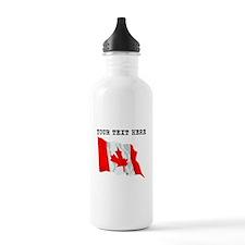 Custom Canada Flag Water Bottle