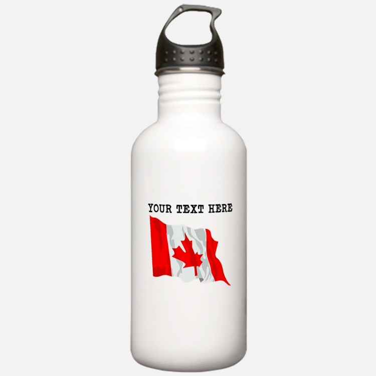 Custom Canada Flag Water Bottle