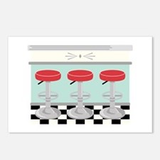 Barstool Seats Postcards (Package of 8)