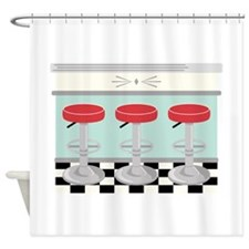 Barstool Seats Shower Curtain