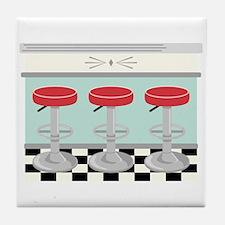 Barstool Seats Tile Coaster