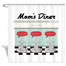 Mom's Diner Shower Curtain