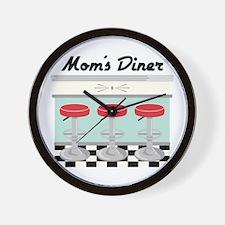 Mom's Diner Wall Clock